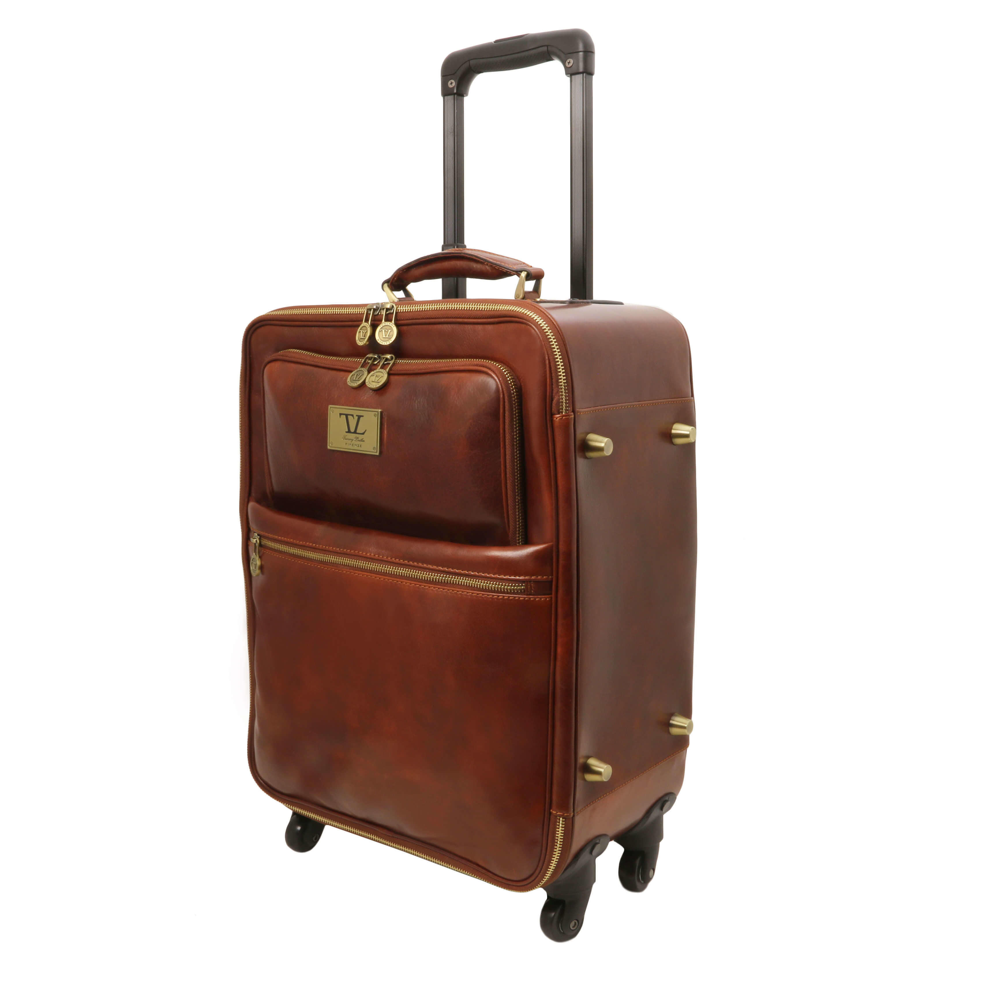 TL141390 Voyager 4 Wheeled Travel-Luggage Bag-Case in Polished C