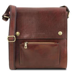 Oliver Mens Cross Body Bag With Front Pocket TL 141656 By Tuscany Leather