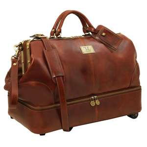 TL 14145 Tuscany Leather Siviglia 2 Swivel Wheels Gladstone Travel Luggage Bag 4 Colours