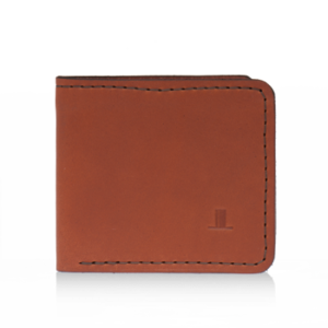 ISAMBARD Clifton Bi - Fold Wallet, in Cognac Natural Veg Tan Lea
