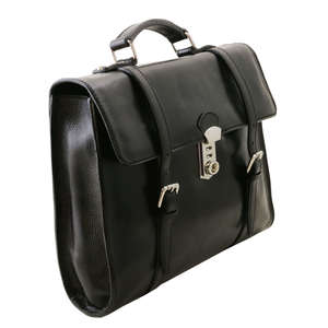 Tuscany Leather Viareggio LaptopBackpack Case-Bag-Messenger-Satchel+Should Strap - Black