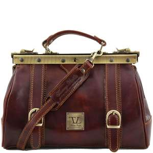 TL10034 Mona Lisa Leather Doctors-Gladstone-Hand-Shoulder-Bag +