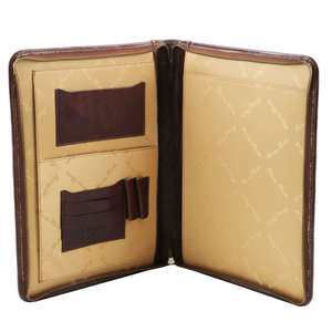 TL141287 Luigi XIV Leather Document - Folio-File-Presenter-Case