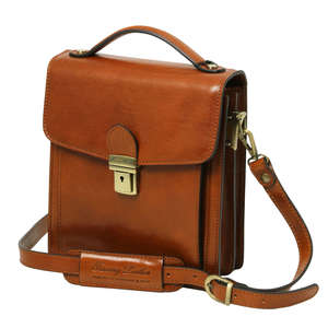 TL141425 New David Mens Shoulder-Saddle-Clutch-Man Bag 4 Colours+Shoulder Strap