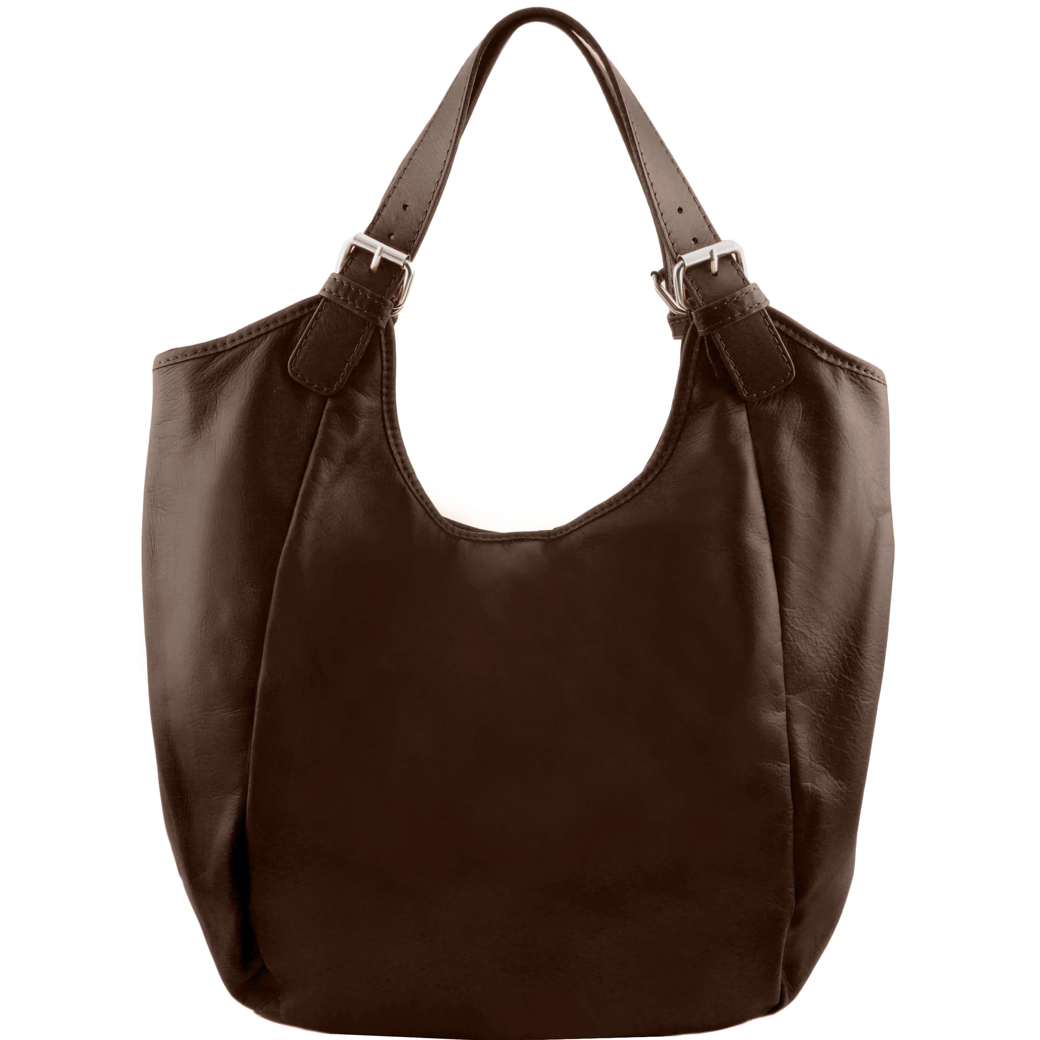 TL141357 Gina Classic Leather-Hand-Shoulder-Tote-Hobo-Bag Beige