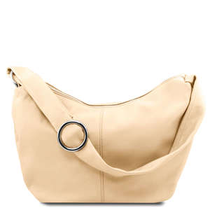 TL140900 Yvette Hand-Shoulder Bag-Tote 3 Colours-Genuine Soft Sauvage Leather