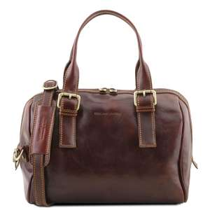 TL141714 Tuscany Leather Eveline Duffle Bag With Shoulder Strap Choice 4 Colours