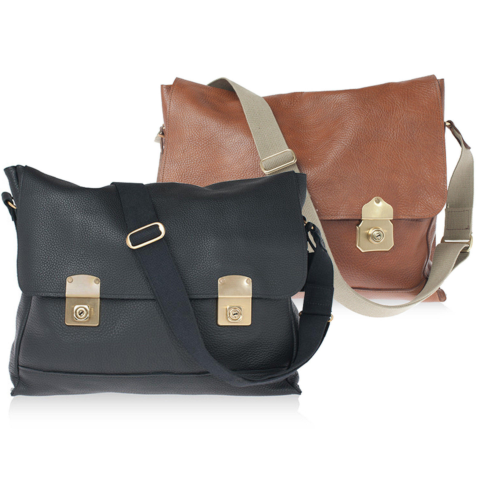 ISAMBARD Clifton Satchel In Soft Natural Leather - Tan or Black