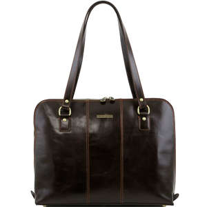 "TL141277 Ravenna Leather 15"" Laptop Bag-Case-Briefcase-Shoulder Bag In 5 Colours"
