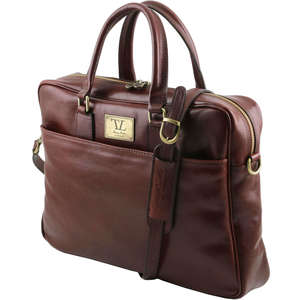"TL141241 Urbino Leather 17""Laptop Bag-Messenger-Satchel-Briefcas"
