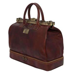 TL141185 Barcellona Leather Gladstone Travel-Holdall-Luggage-Duff