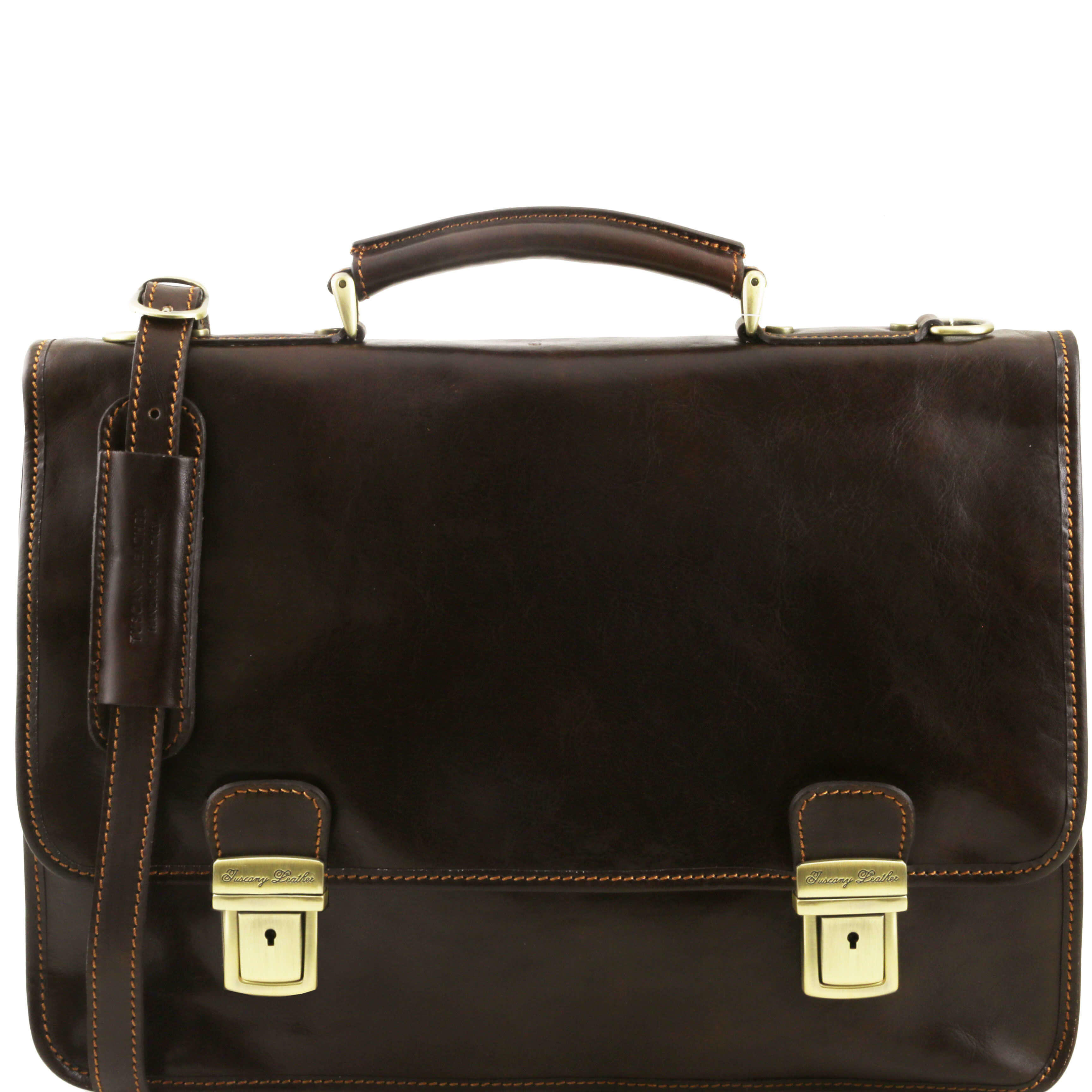 TL10028 Leather Firenze 2Compartment Satchel-Messenger-Briefcase