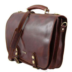TL10068 Leather Capri 2 Compartment Satchel-Messenger-Briefcase