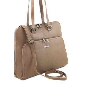 TL141630 LUCCA business bag in soft leather for women by Tuscany Leather