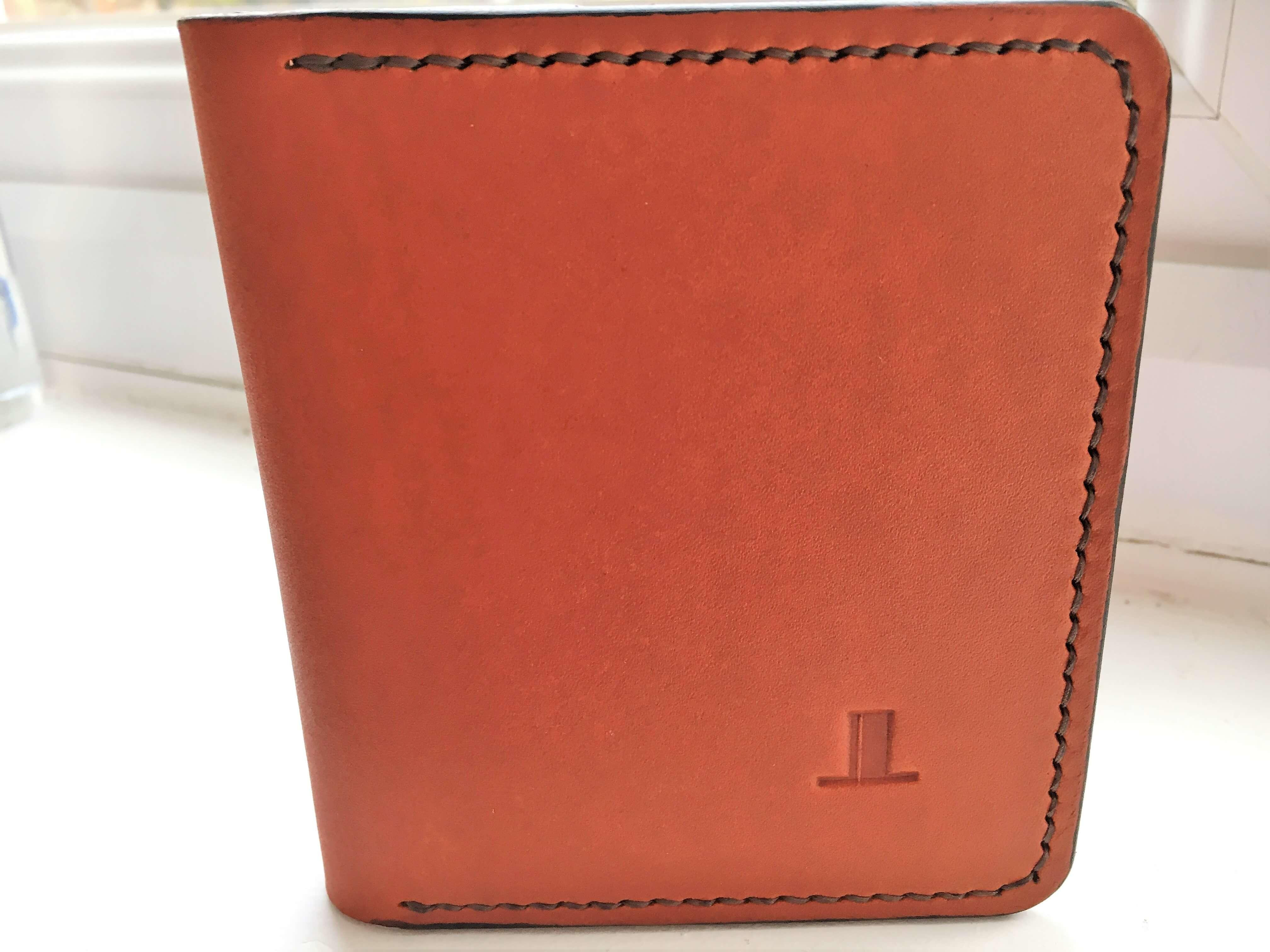 ISAMBARD Clifton Credit Card Wallet, in Cognac Natural Veg Tanne