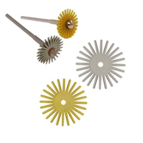Radial Bristle Pumice Discs for polishing gold and silver and precious stones