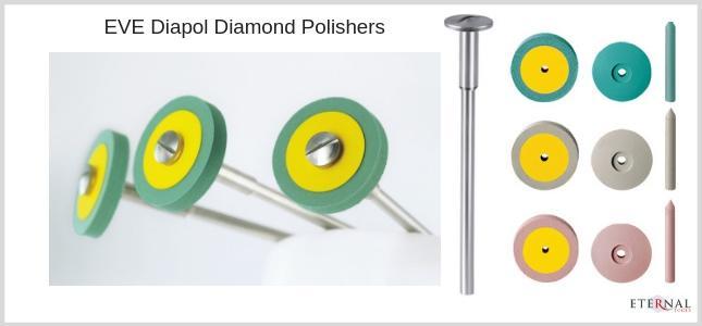 EVE Diapol Polsihers for polishing platinum, titanium, ceramics, glass and precious stone