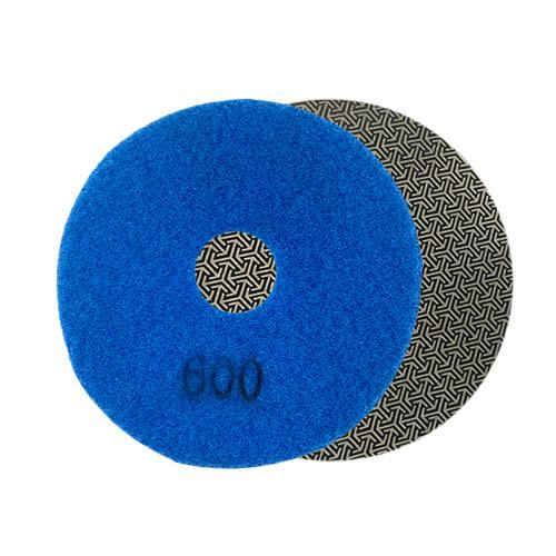 600 grit round diamond polishing pad 100mm or 4""