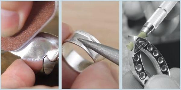 Filing, sanding and texturing silver by Eternal Tools