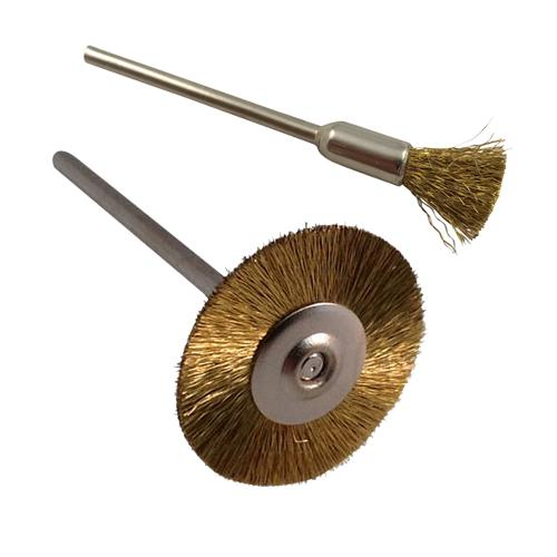 Swiss made Brass Wire Wheel Brush on a 2.35mm shank