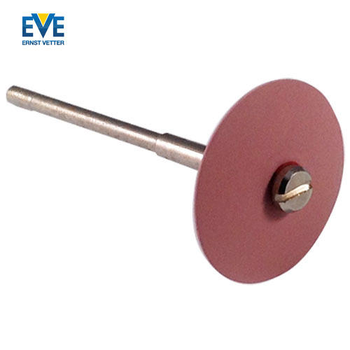 Screw mandrel with knife edge EVE Universal polishers