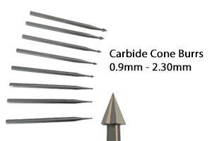die grinder bits cone shape 0.9mm - 2.30mm