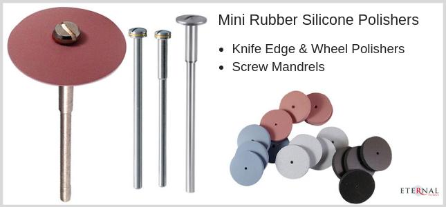 Mini Rubber silicone wheel and Knife edge polishers with screw mandrel for your Dremel Rotary Tool