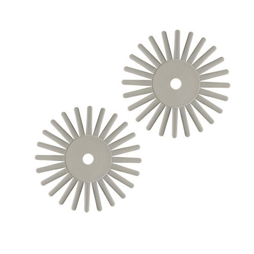 Radial Bristle polishing discs Grey, Fine grit.