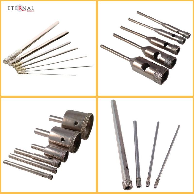 Diamond drill bits for drilling holes in glass by Eternal Tools