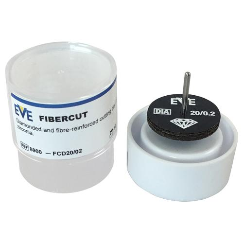 Box of 1 EVE Diamond Fibercut Wheels for cutting glass, stone and zirconia