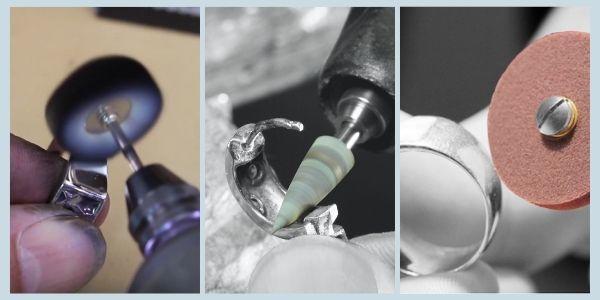 Polishing silver by Eternal Tools