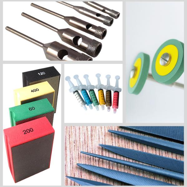 Abrasives for smoothing, drilling, filing, deburring and polishing ceramics, by Eternal Tools