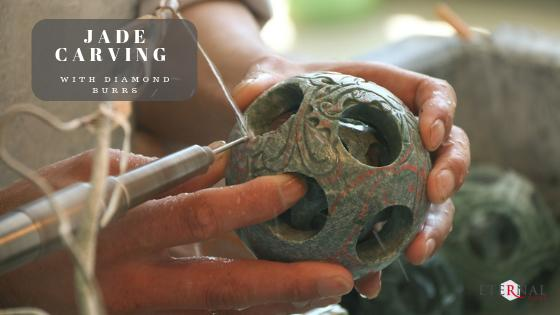 carving jade with diamond burrs in a rotary tool