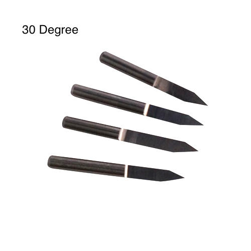 "tungsten carbide engraving bits 30 degree angle, 1/8"" shank"