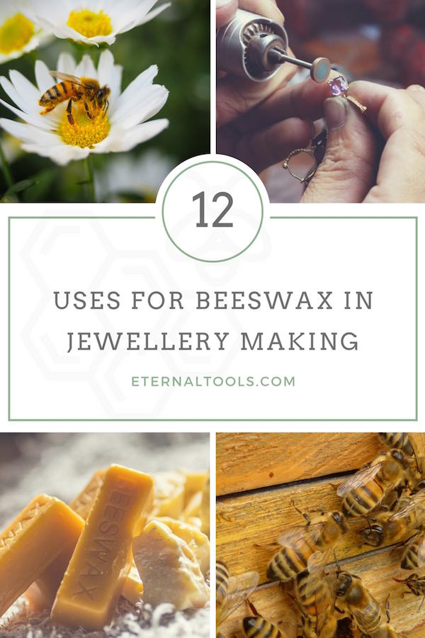 12 uses for beeswax in jewelry making such as applying to jewelry piercing saw blades to make them glide smoothly, seal oxidised silver, apply to glass lampworking tools, picking up and setting small parts and stones and plenty more...