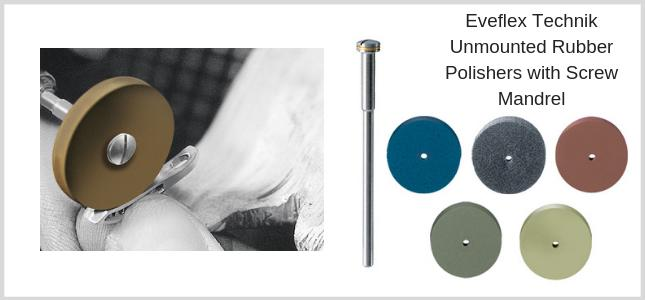 Unmounted rubber polishers for all metals