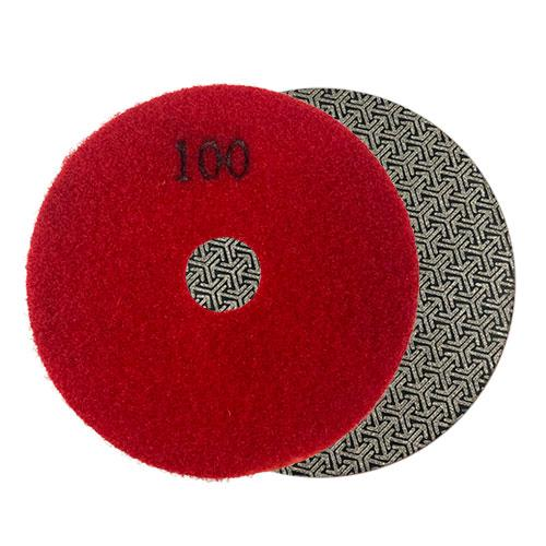 100 grit round diamond polishing and grinding pad