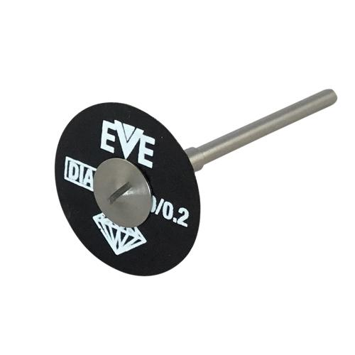 EVE Diamond Fibercut Cutting Discs on mandrel for cutting glass, stone and zirconia