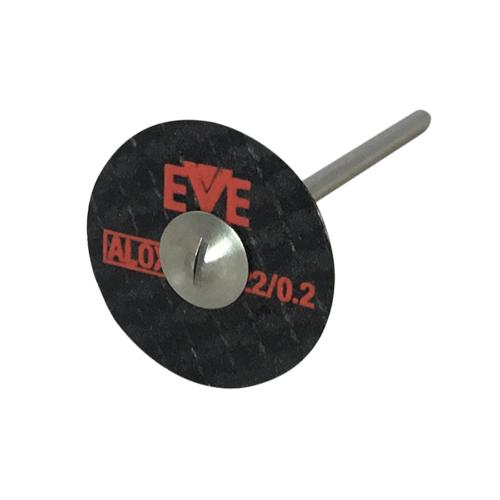 EVE Aluminium oxide Fibercut Cutting Discs on mandrel for cutting metals