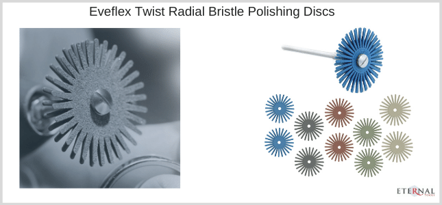 EVE twist radial bristle polishing discs for your polishing metals with your Dremel Rotary Tool
