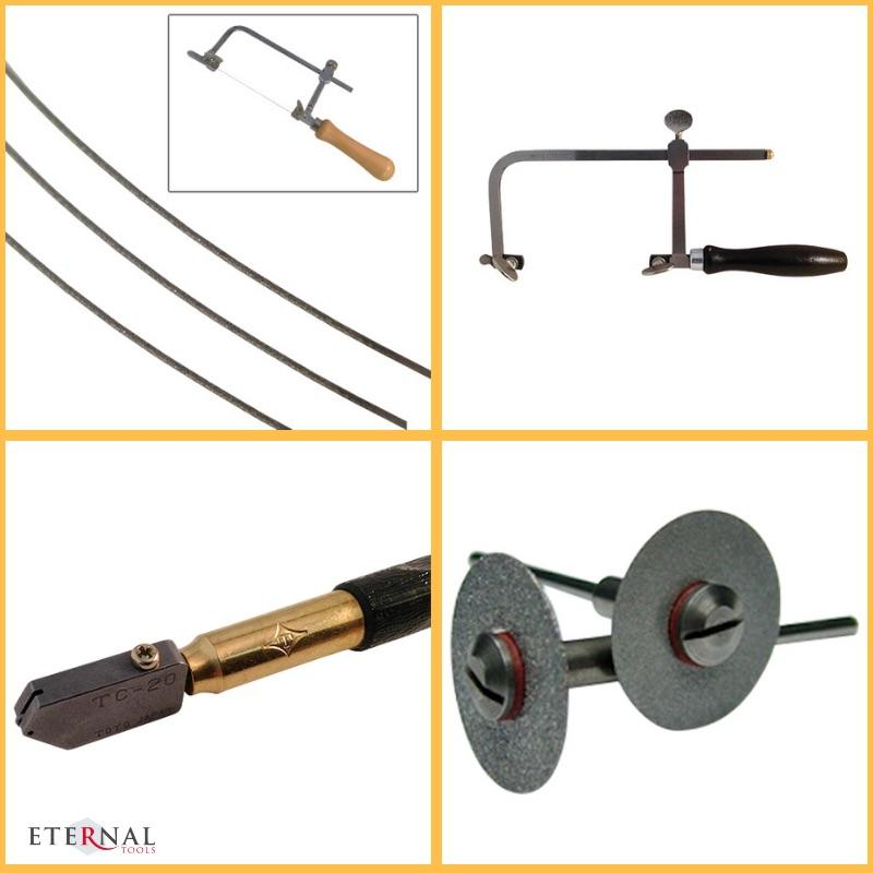 Tools for Cutting glass by Eternal Tools. Diamond Wire hand saw blades, Toyo glass cutter and Diamond slitting or cutting discs