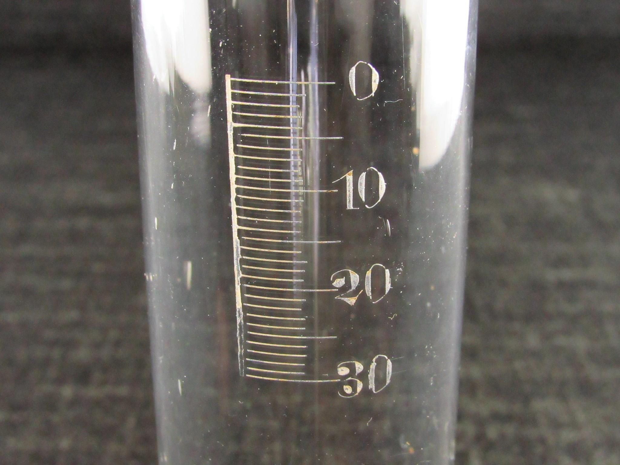 Antique Glass Hydrometer Cylinder or Measure - Brix Scale - Wine Making