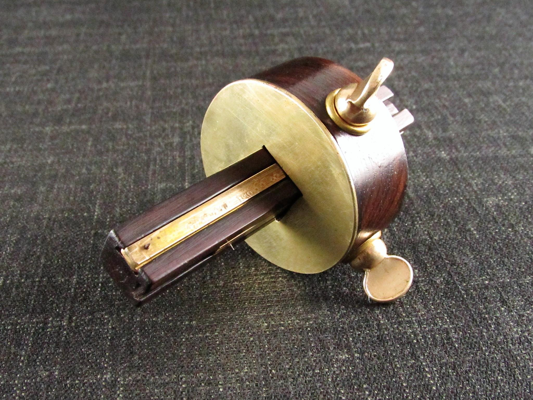 Unusual Brass & Rosewood Marking Gauge