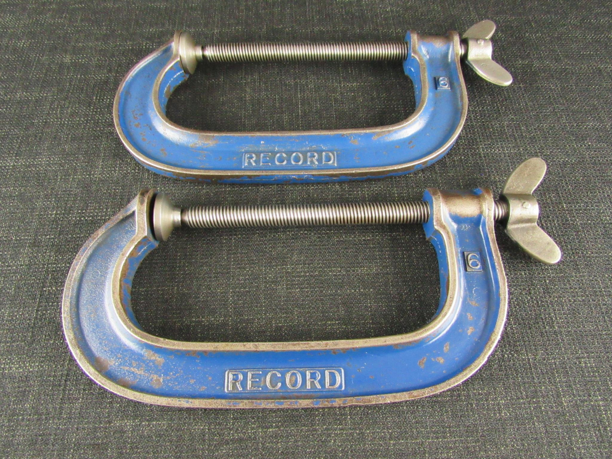 Pair of 6 inch RECORD G clamps