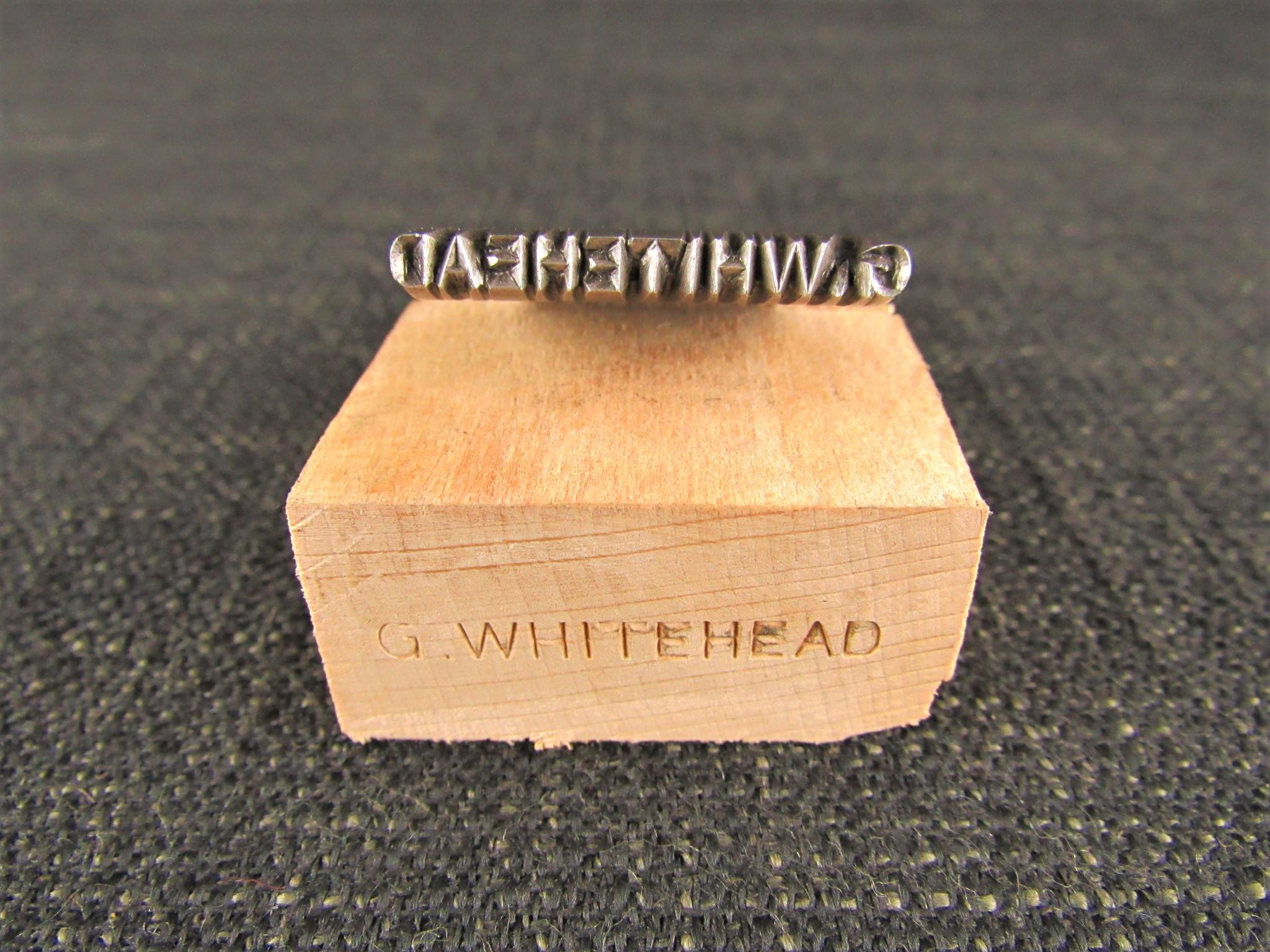G WHITEHEAD Name Stamp - Punch or Mark Maker