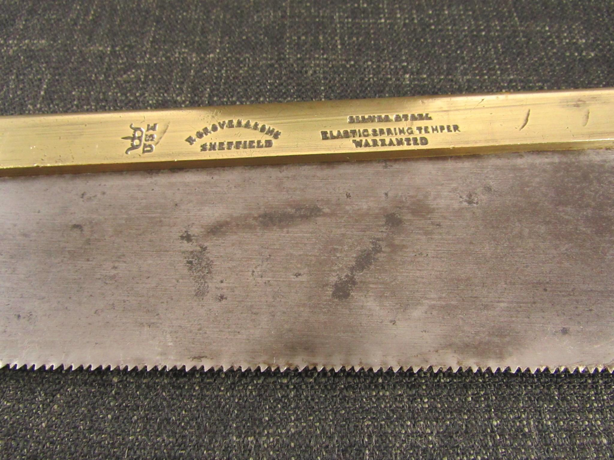 Richard GROVES Brass Back Saw - 10 inch