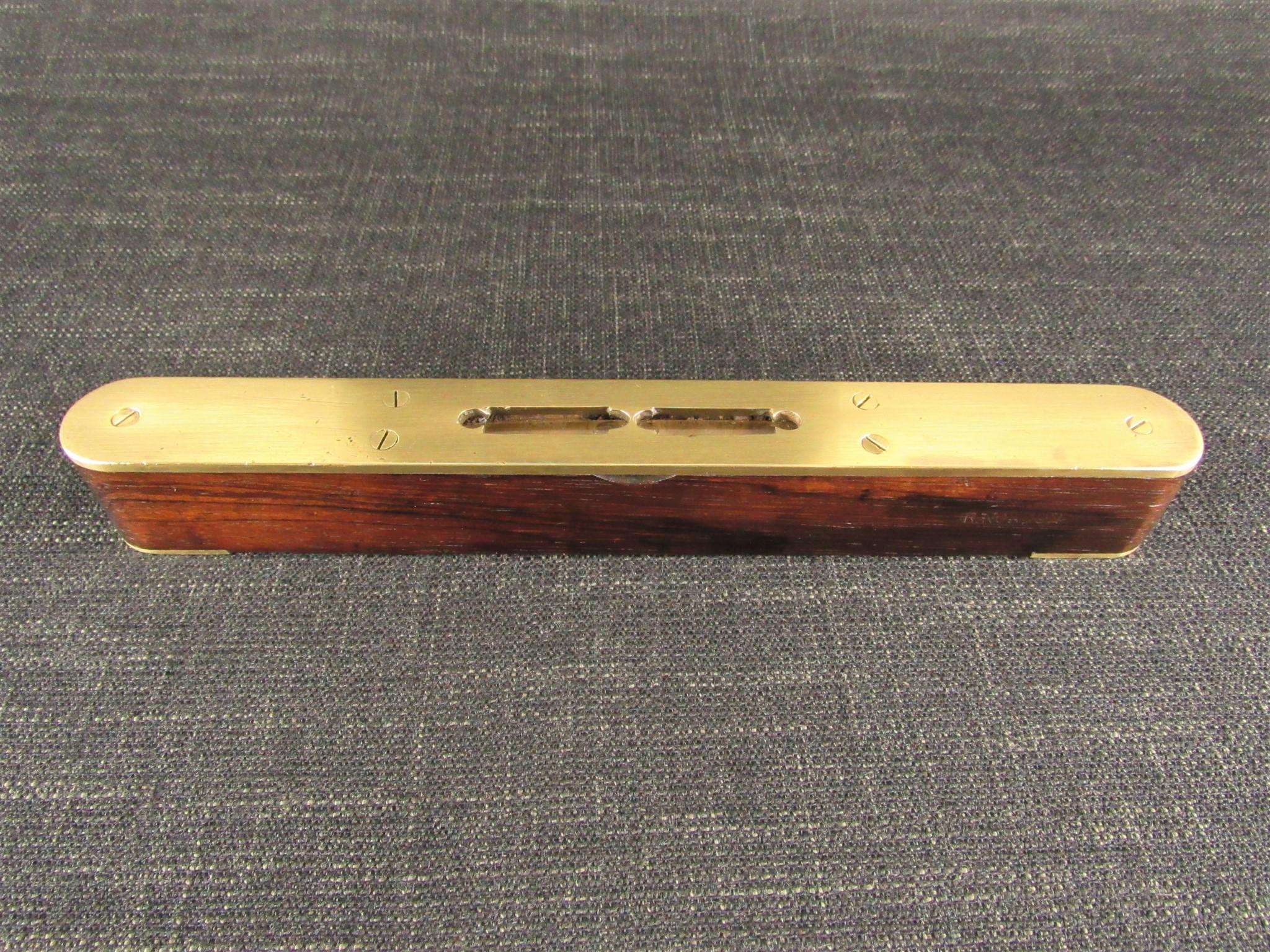 Brass Plated Rosewood Spirit Level
