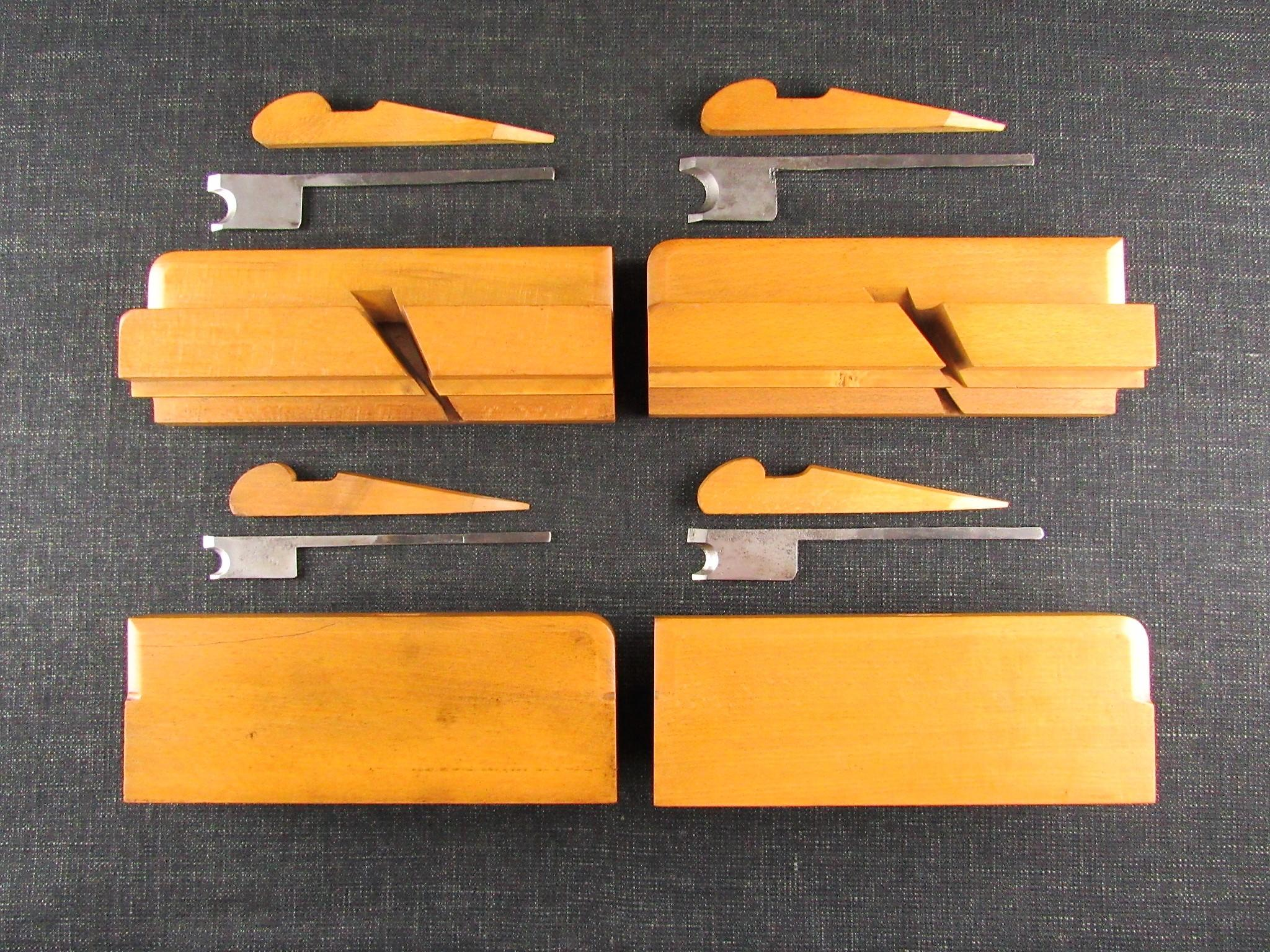 Set of 10 Wooden Side Bead Moulding Planes by VARVILL