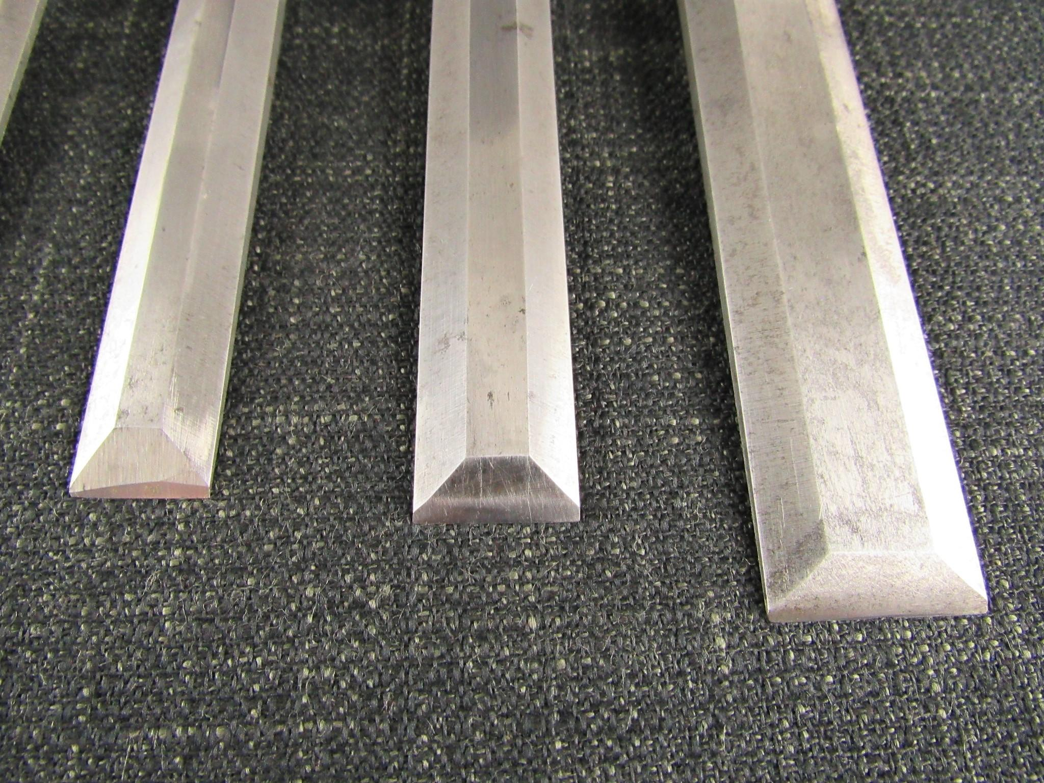 Graduated Set of 6 EA BERG Bevel Edge Chisels