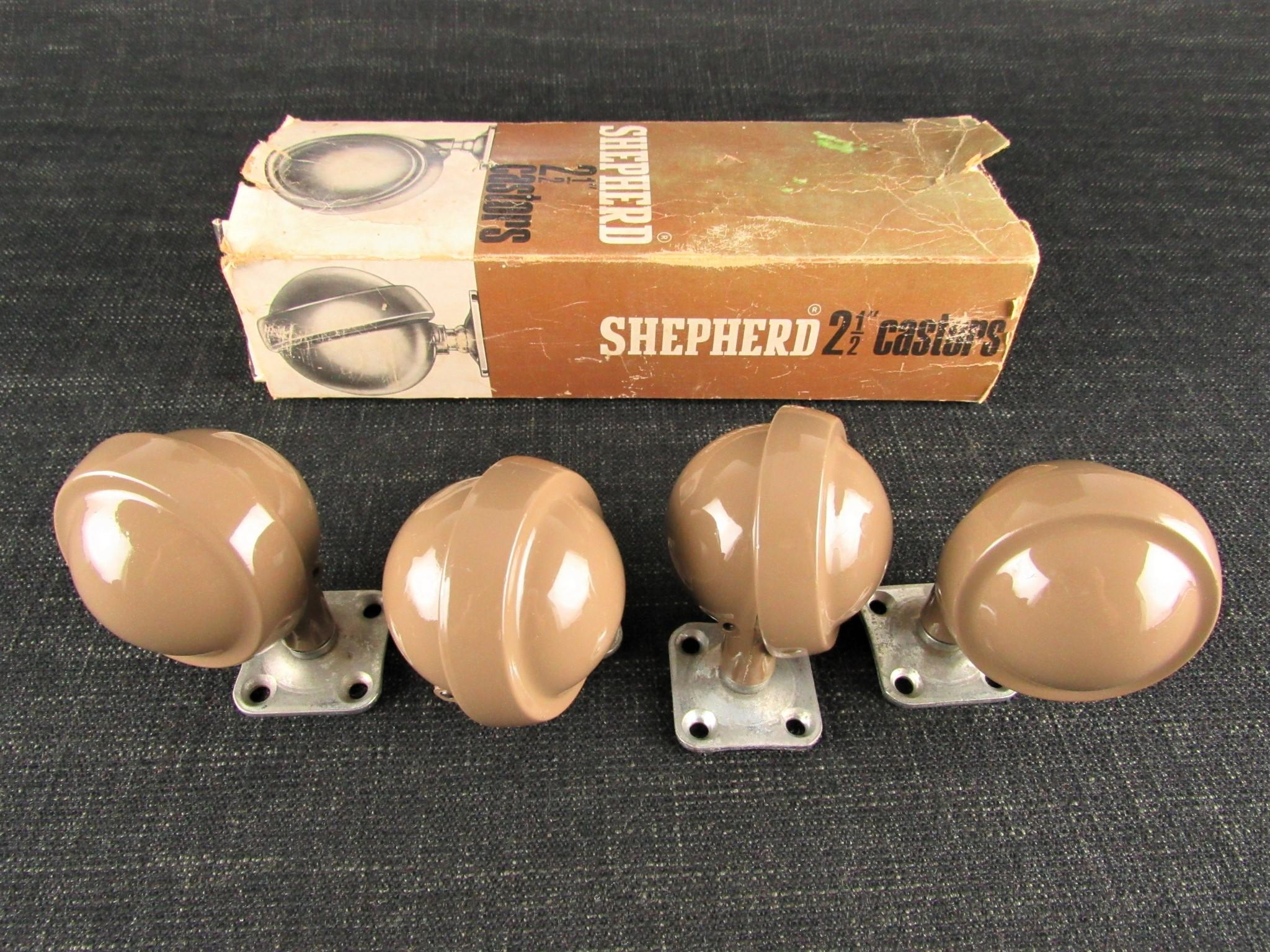 Set of 4 Vintage SHEPHERD 51 Castors - 2 1/2 inch